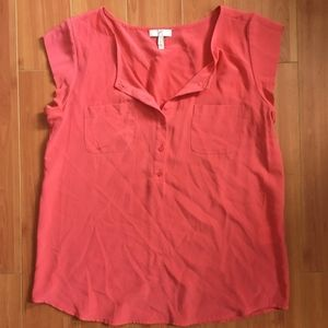 Joie Coral Silk Blouse S